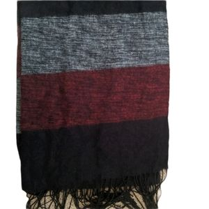 Pashmina grey red and black  scarf